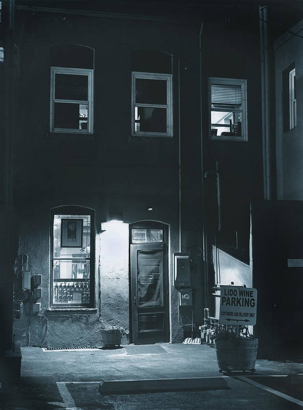 Alley Poster featuring the photograph Back Door To The Wine Shop by Jim Furrer