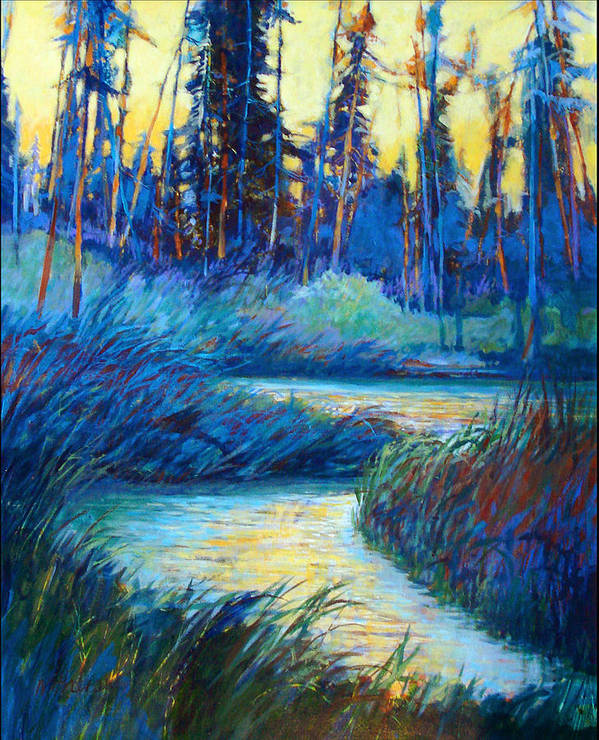 Landscape Poster featuring the painting Backwater Light by Dale Witherow