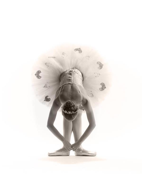 Ballerina Poster featuring the photograph Ballerina Bent by Steve Williams
