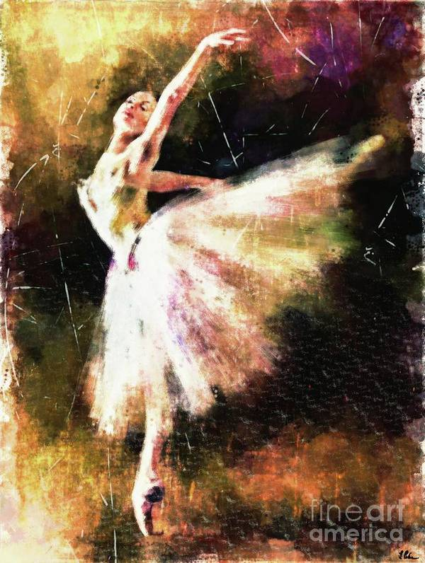 Ballerina Poster featuring the painting Ballerina Girl by Tina LeCour