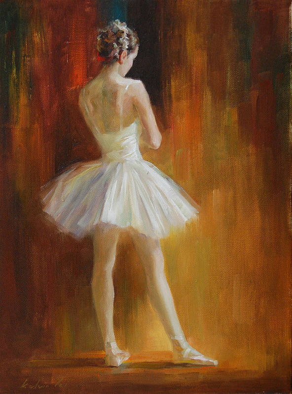 Poster featuring the painting Ballerina by Kelvin Lei