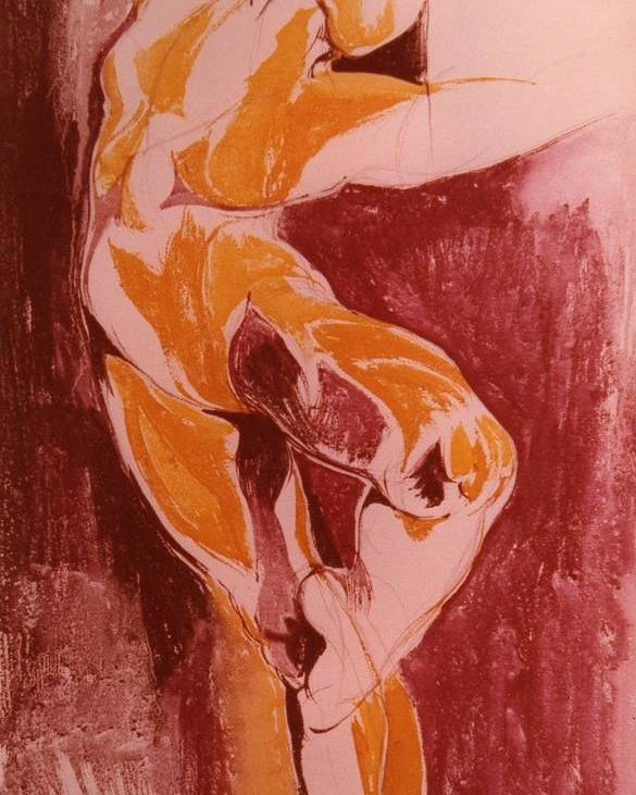 Ballet Poster featuring the painting Ballet Dancer by Maria Grazia Repetto