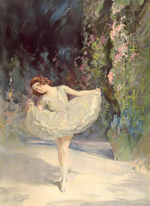 Ballet Poster featuring the painting Ballet by Septimus Edwin Scott