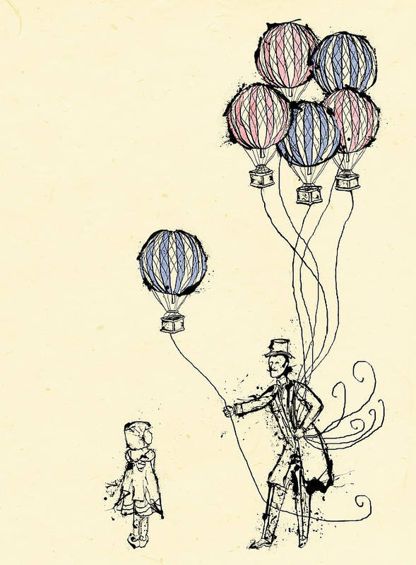 Balloon Poster featuring the digital art Ballons For Sale by William Addison