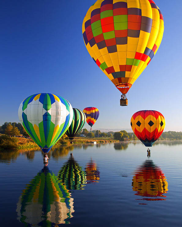 Balloon Poster featuring the photograph Balloon Reflections by Mike Dawson