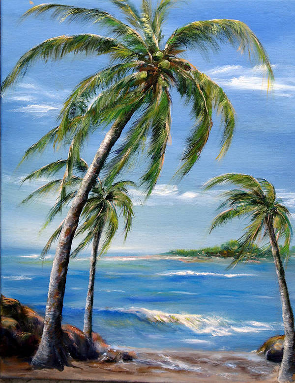 Hawaii Poster featuring the painting Balmy Breeze by Thomas Restifo