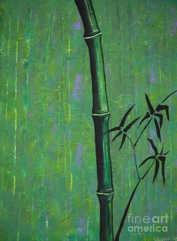 Bamboo Poster featuring the painting Bamboo by Jacqueline Athmann