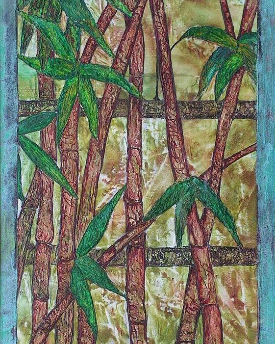Bamboo Poster featuring the painting Bamboo by John Vandebrooke