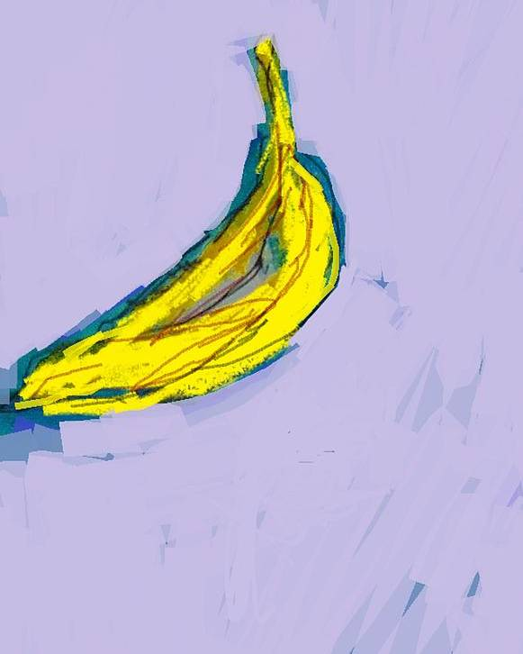 Banana Poster featuring the painting Banana by Samuel Zylstra