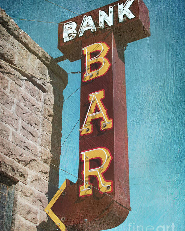 Bar Poster featuring the photograph Bank Bar by Chris England