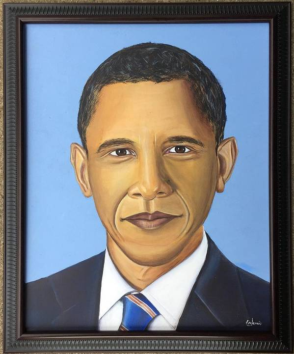President Poster featuring the painting Barack Obama by Grayson Engleman