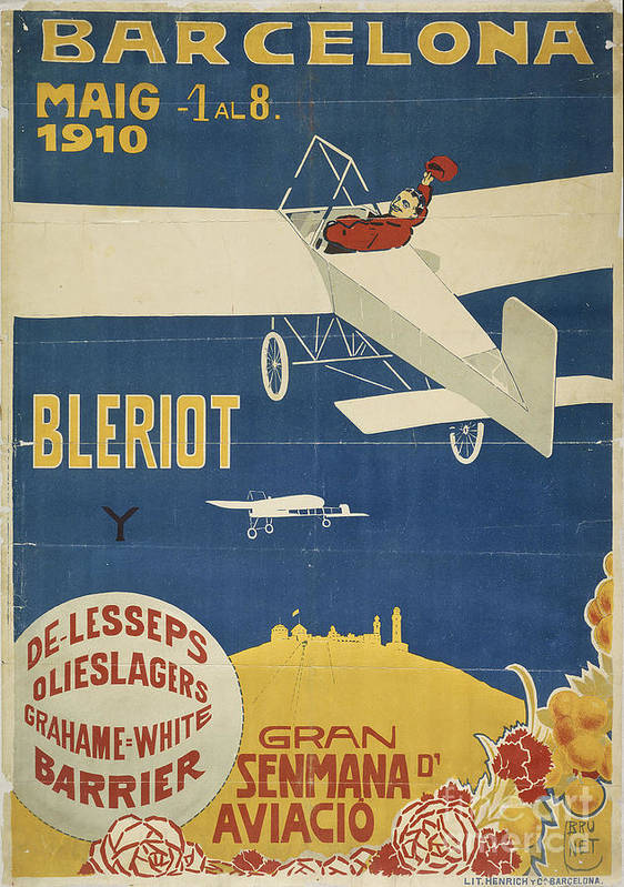 Brunet Torroll Poster featuring the painting Barcelona by Celestial Images
