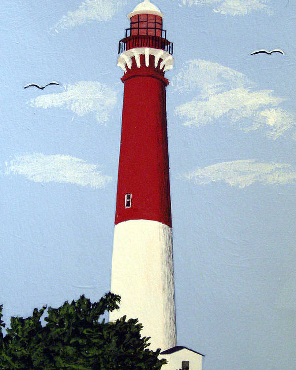 Lighthouse Paintings Poster featuring the painting Barnegat Lighthouse by Frederic Kohli