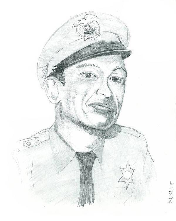 Barney Poster featuring the drawing Barney Fife by Thomas Elliott