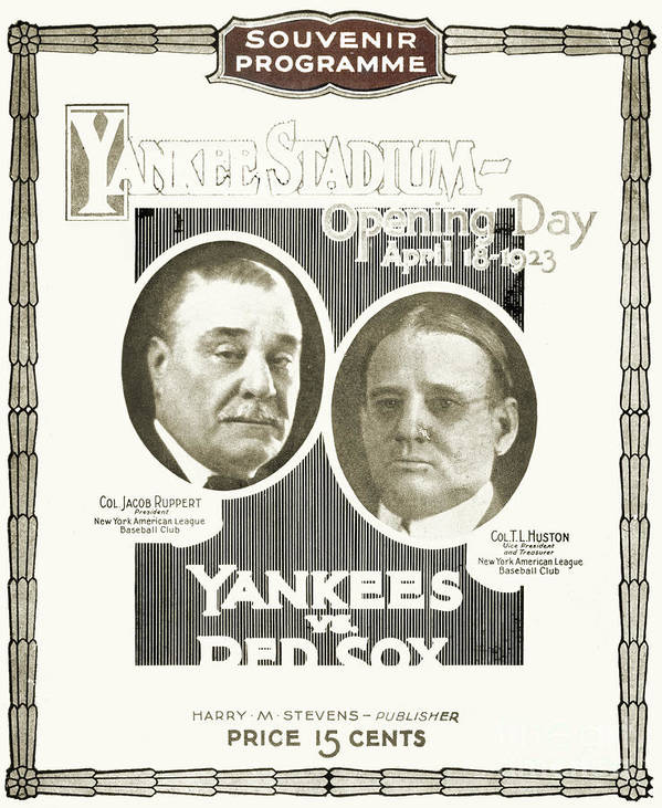 1923 Poster featuring the photograph Baseball Program, 1923 by Granger