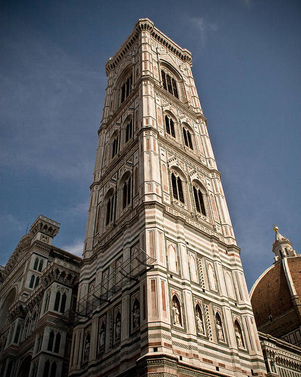 Italy Poster featuring the photograph Basilica Di Santa Maria Del Fiore Tower by Carl Jackson