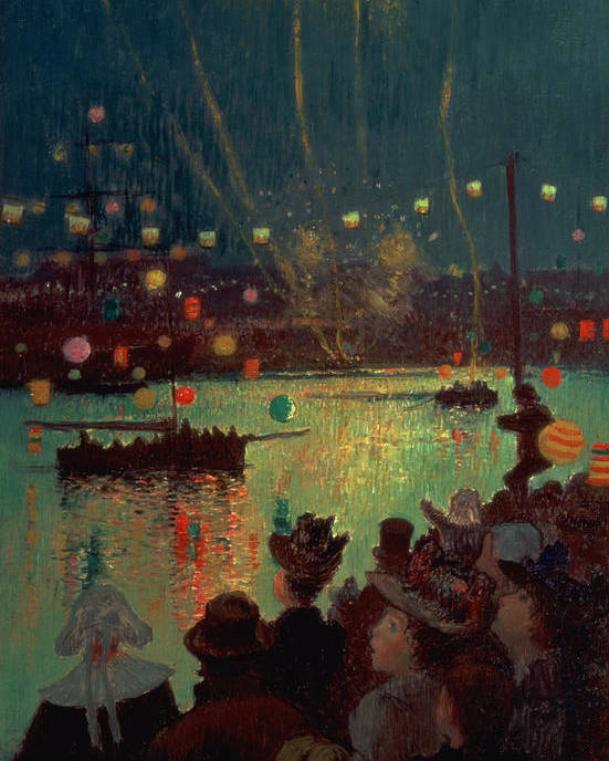 Bastille Day At Lorient Poster featuring the painting Bastille Day At Lorient by Henry Moret