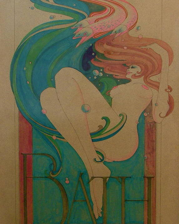 Female Poster featuring the painting Bath by Gary Kaemmer