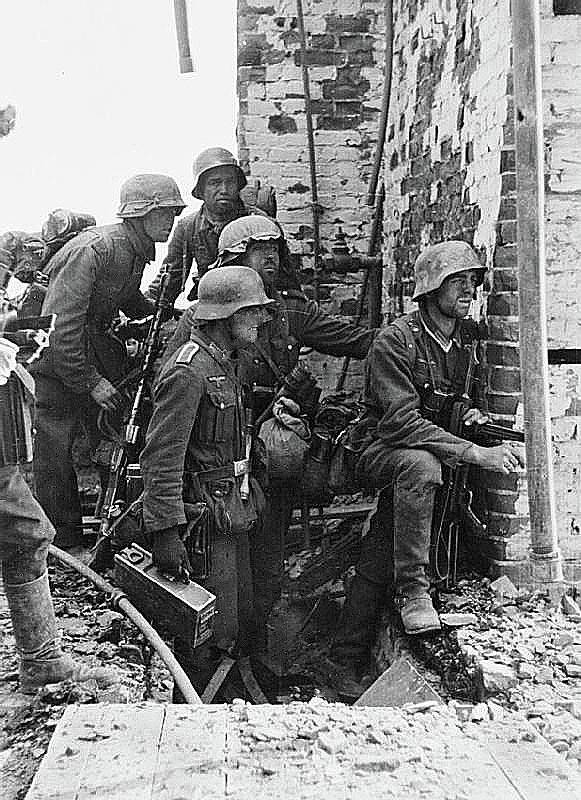 Battle Of Stalingrad Nazi Infantry Street Fighting 1942 Poster featuring the photograph Battle Of Stalingrad Nazi Infantry Street Fighting 1942 by David Lee Guss
