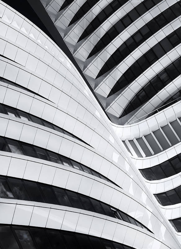 Architecture Poster featuring the photograph Battle Of The Curves by Jeroen Van De Wiel
