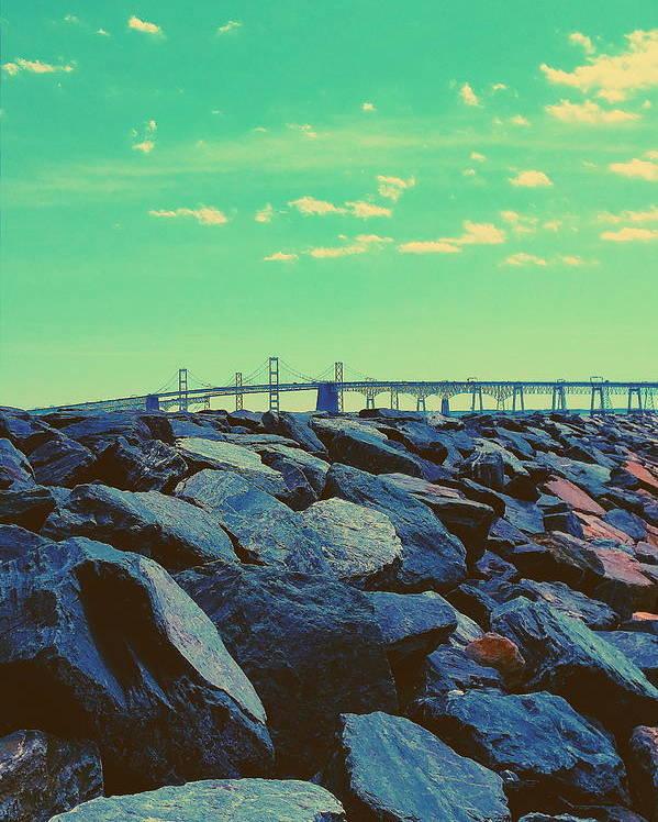 Chesapeake Poster featuring the photograph Bay Bridge by Paul Kercher