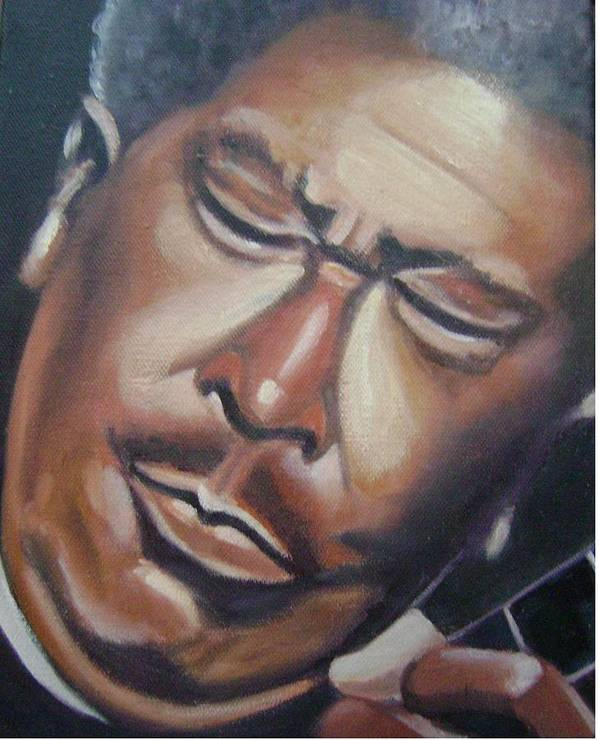 B.b. King Poster featuring the painting B.b. King by Toni Berry