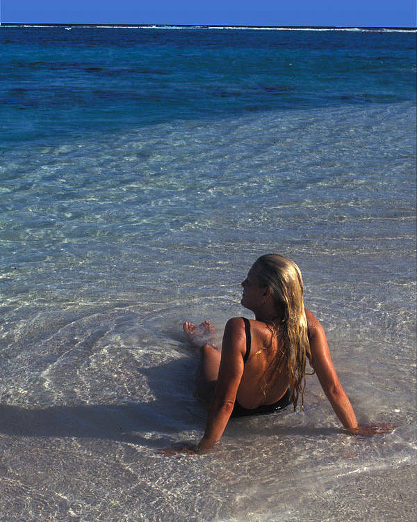 Beautiful Poster featuring the photograph Beach At Little Cayman by Carl Purcell