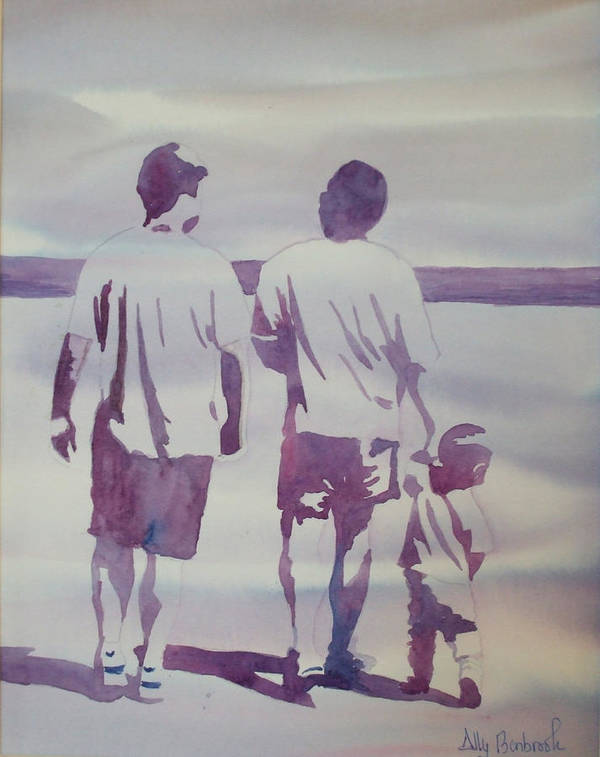 Family Poster featuring the painting Beach Boys by Ally Benbrook