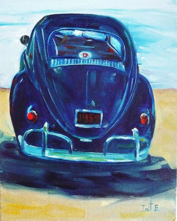 Car Poster featuring the painting Beach Bug by Irit Bourla