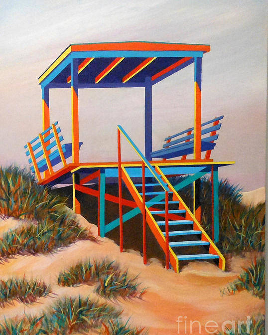 Landscape Poster featuring the painting Beach Gate by Hugh Harris