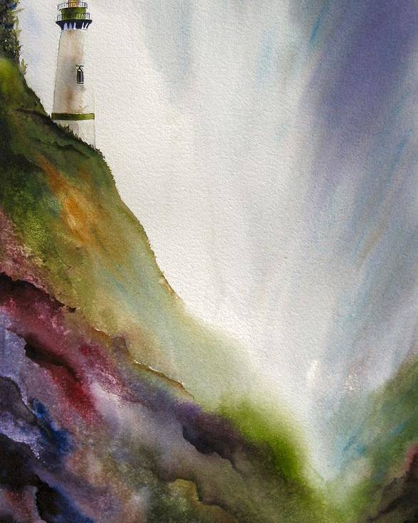 Lighthouse Poster featuring the painting Beacon by Karen Stark