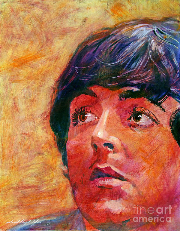 Paul Mccartney Poster featuring the painting Beatle Paul by David Lloyd Glover