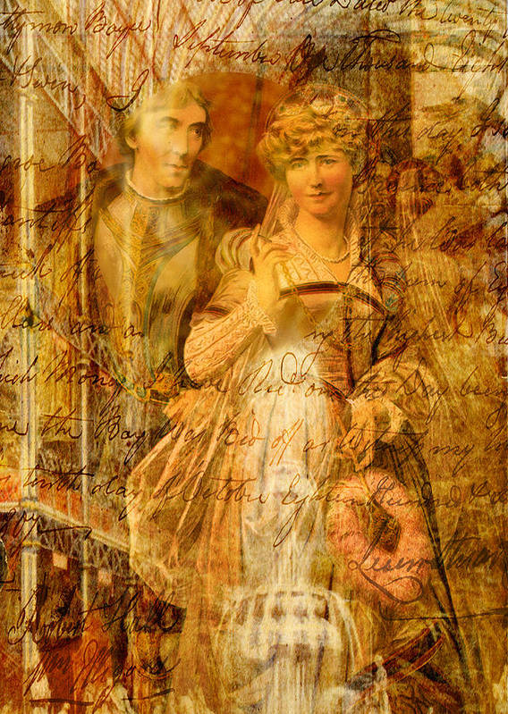 Beatrice Poster featuring the digital art Beatrice And Benedick by Sarah Vernon