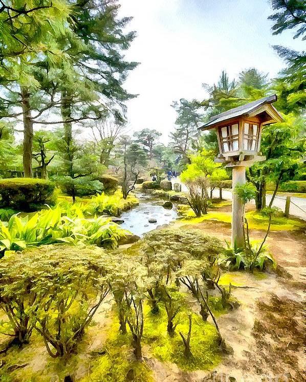 Kenrokuen Garden Poster featuring the photograph Beautiful Kenrokuen by Eva Lechner