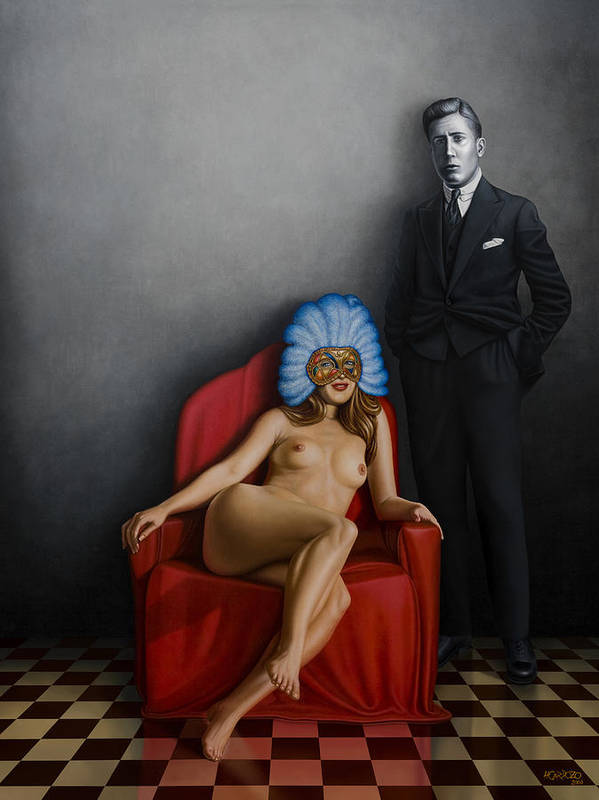 Nude Poster featuring the painting Beauty Of The Carnival by Horacio Cardozo