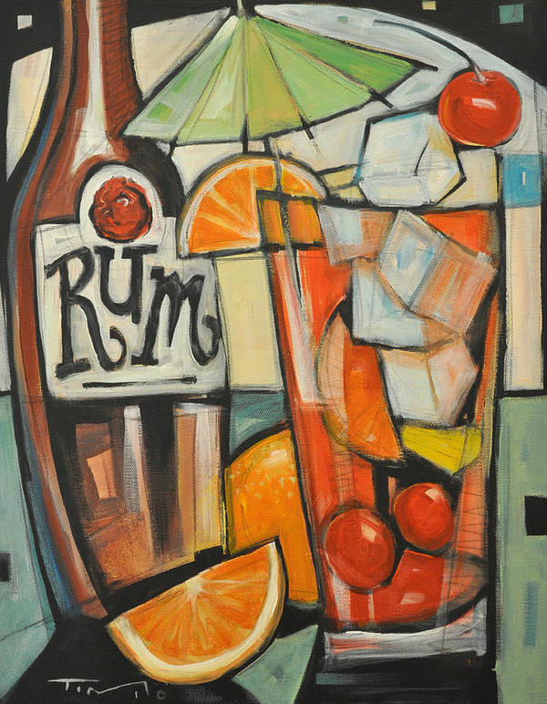 Fruit Poster featuring the painting Bebida De Turista by Tim Nyberg