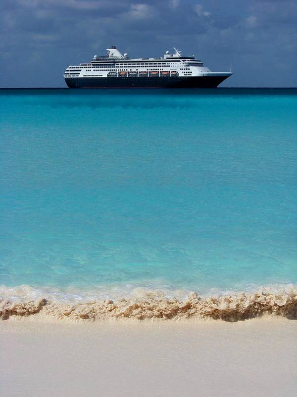 Cruise Ships Poster featuring the photograph Beckoning by Karen Wiles