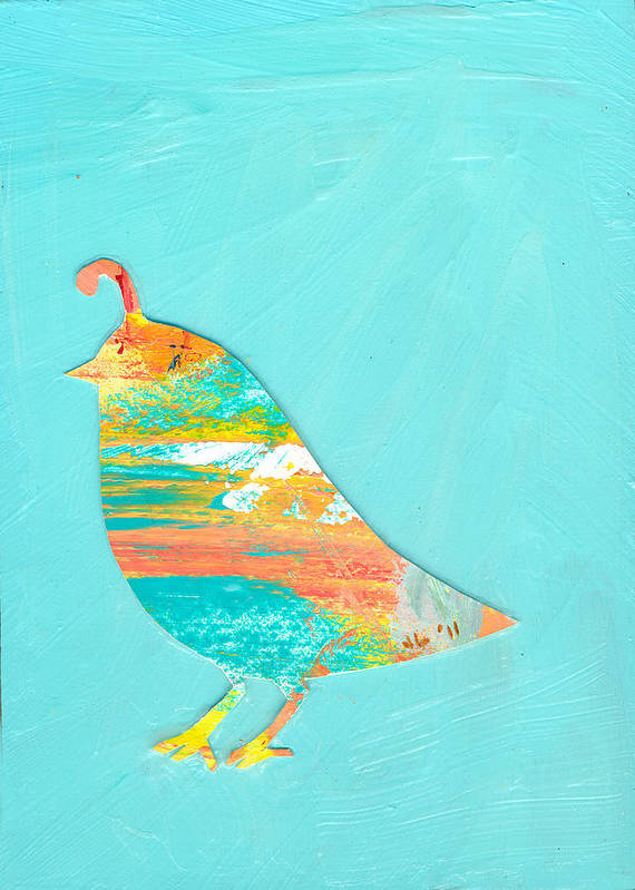 Quail Poster featuring the painting Becoming Quail by Jennifer Lommers