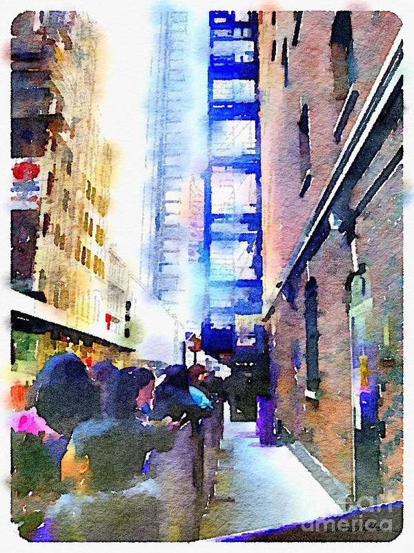 New York Poster featuring the digital art Behind Broadway by Denise Haddock