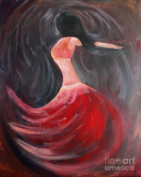 Belly Dancers Poster featuring the painting Belly Dancer 3 by Julie Lueders