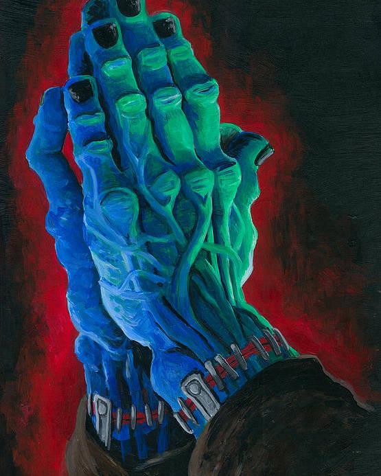 Ben Von Strawn Poster featuring the painting Belong Dead by Ben Von Strawn