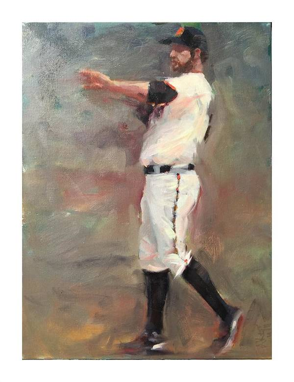 Brandon Belt Poster featuring the painting Belt by Darren Kerr