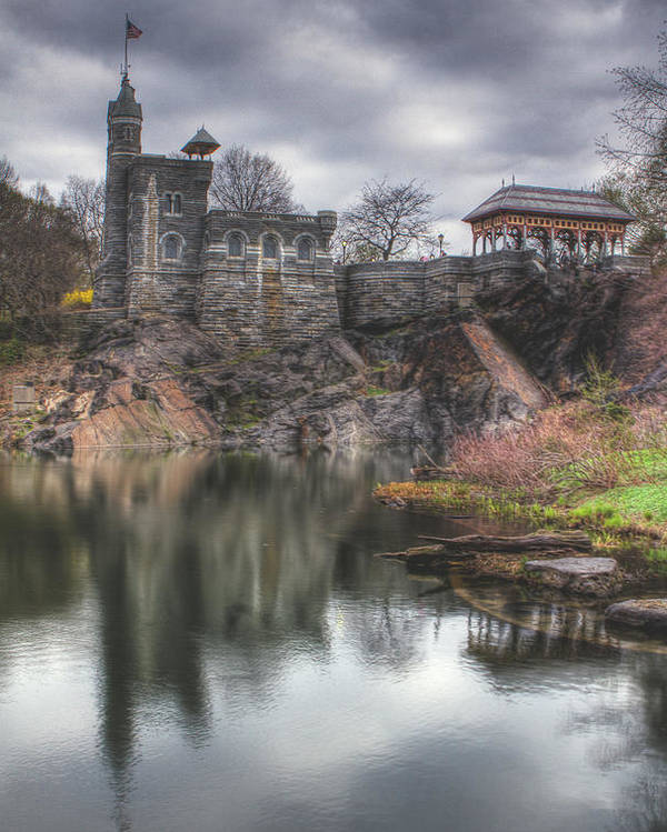 Belvedere Castle Poster featuring the photograph Belvedere Castle Vertical by Ariane Moshayedi