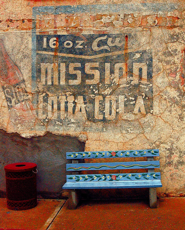 Arizona Photography Poster featuring the photograph Bench by John Gee