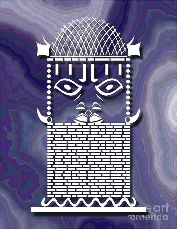 African Sculpture Poster featuring the digital art Benin Warrior King by Walter Oliver Neal