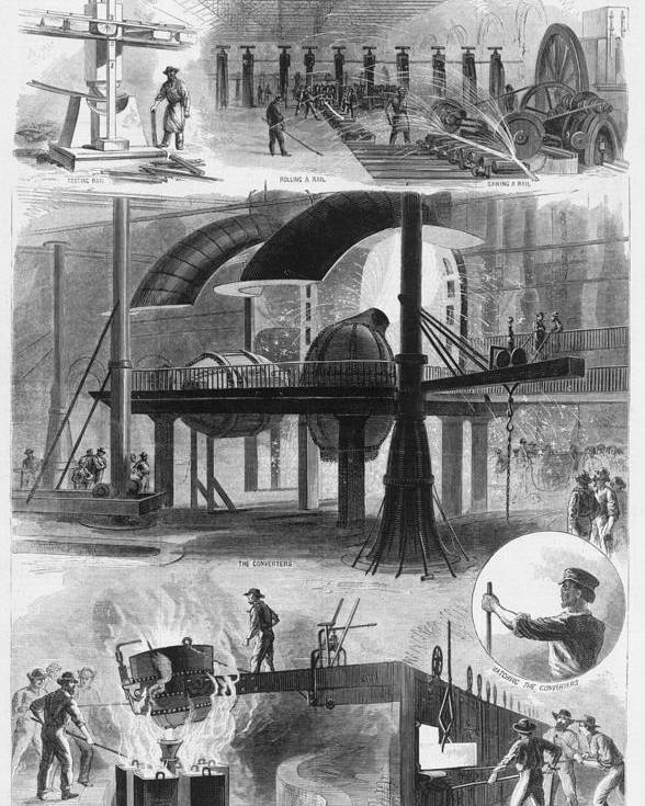 History Poster featuring the photograph Bessemer Steel Manufacture. Six by Everett