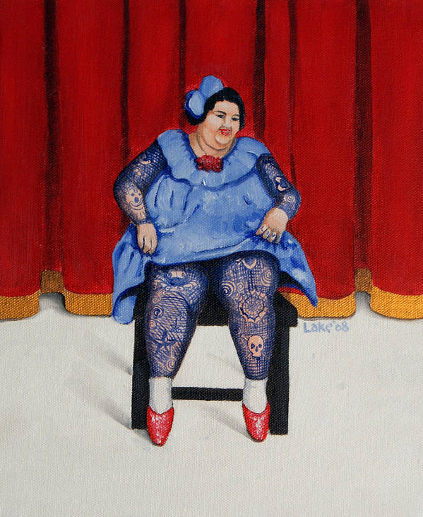Fat Poster featuring the painting Betty 1 by Matthew Lake
