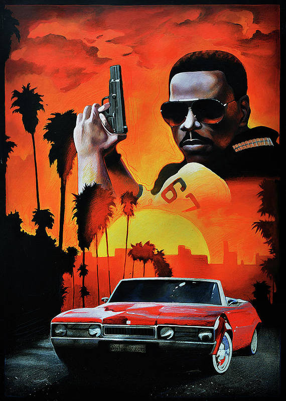 Beverly Hills Cop Poster Featuring The Painting Beverly Hills Cop By A Prints