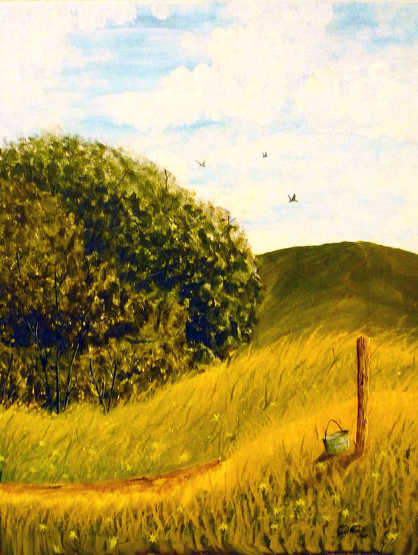 Landscape Poster featuring the painting Beyond The Path by Christian Hidalgo