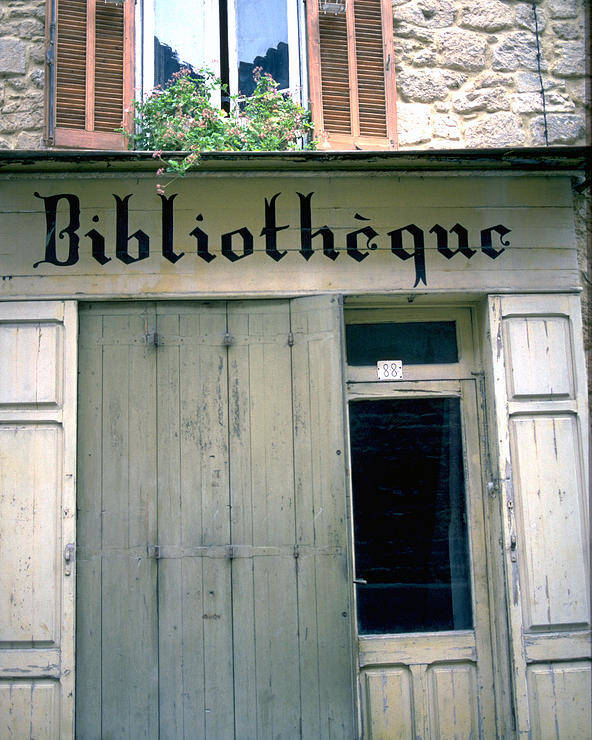 Bibliotheque Poster featuring the photograph Bibliotheque by Flavia Westerwelle